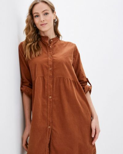 Платье рубашка - коричневое Haily's