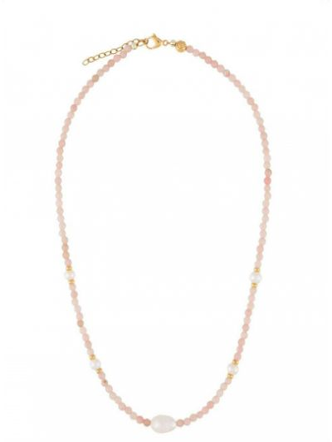 Мягкий чокер золотой с жемчугом Nialaya Jewelry