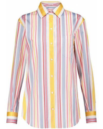 Хлопковая синяя рубашка в полоску Loro Piana