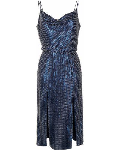 Тонкое синее платье миди с воротником Haney