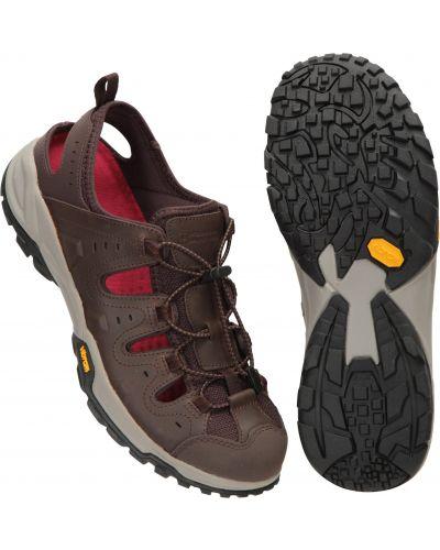 Sandały skórzane - brązowe Mountain Warehouse