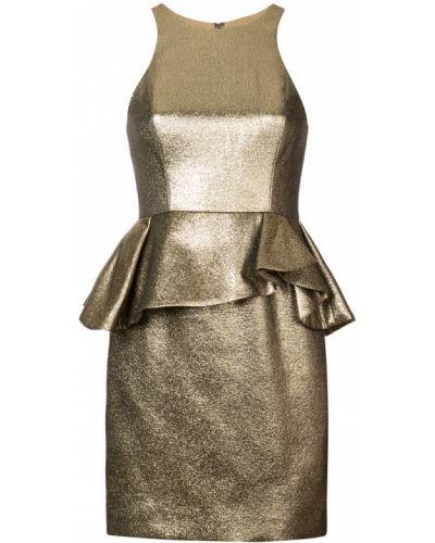 Платье с баской на молнии Halston Heritage