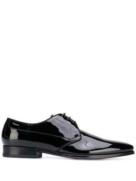 Черные кожаные дерби на каблуке Dolce & Gabbana