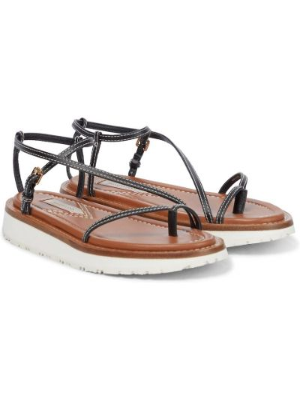 Czarne sandały skorzane casual Zimmermann