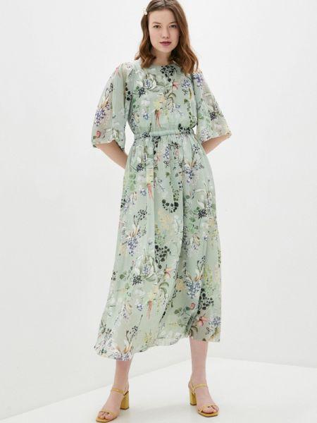 Платье прямое зеленый Vera Moni