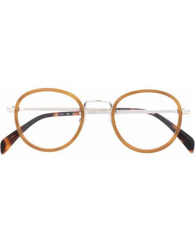 Okulary srebrne - pomarańczowe Eyewear By David Beckham