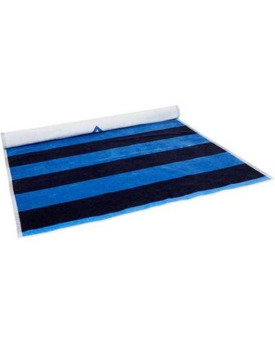 Niebieska chusta bawełniana w paski Gant