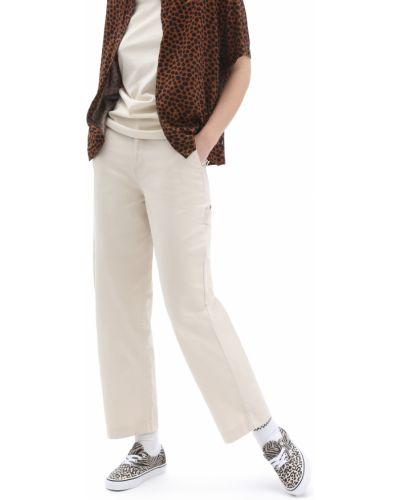 Белые брюки с карманами Vans