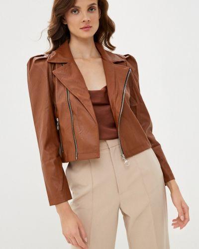 Кожаная коричневая кожаная куртка Defacto