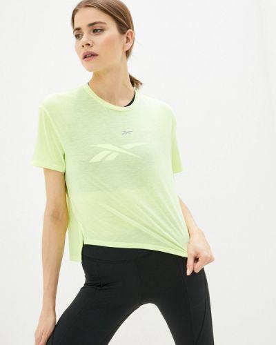 Желтая спортивная футболка Reebok