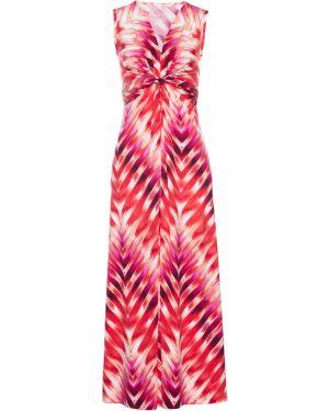 Платье с поясом розовое с драпировкой Bonprix