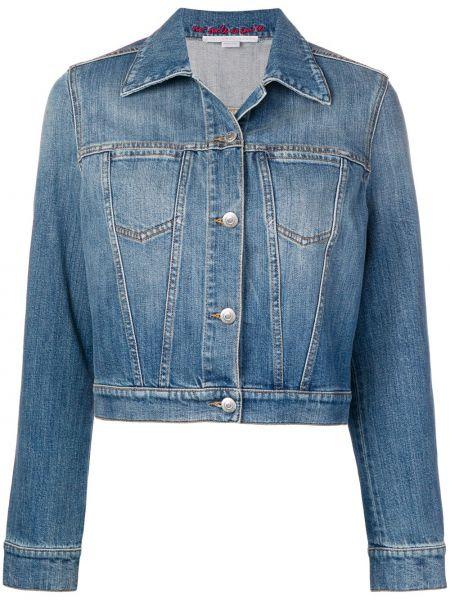 Кожаная куртка джинсовая на пуговицах Stella Mccartney