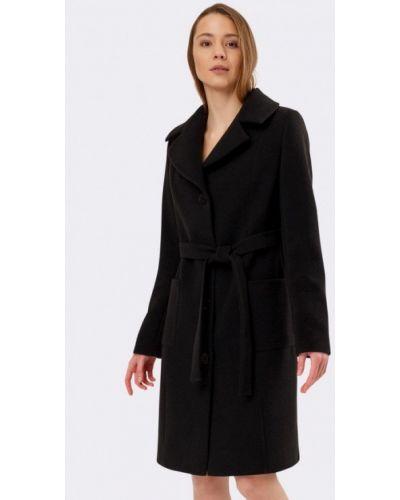 Черное пальто с капюшоном Cat Orange