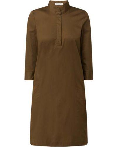 Zielona sukienka mini rozkloszowana bawełniana Christian Berg Women