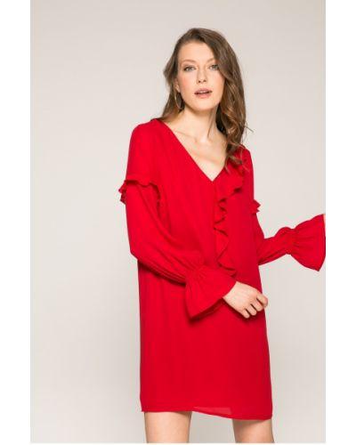 Платье мини с V-образным вырезом с длинными рукавами Answear