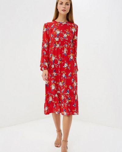 Красное платье прямое Trendyangel