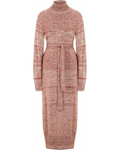 Шерстяное платье миди - коричневое Laroom