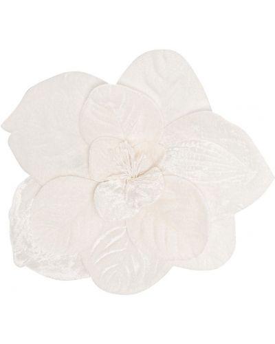 Текстильная белая брошь Piccola Ludo