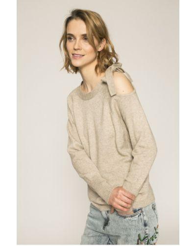 Бежевый вязаный свитер Vila