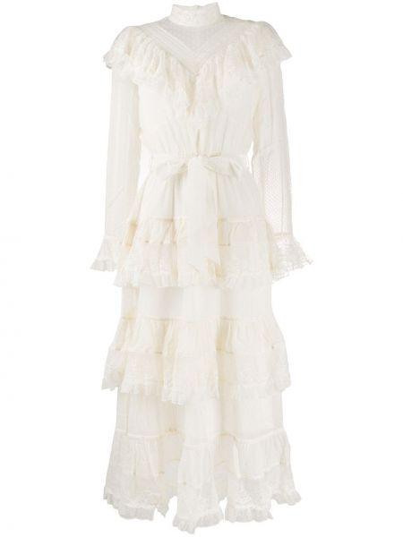 Sukienka midi dla wysokich kobiet z długim rękawem Zimmermann