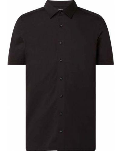 Czarna koszula krótki rękaw bawełniana Olymp