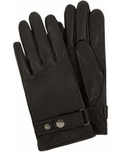 Czarne rękawiczki skorzane Eem-fashion