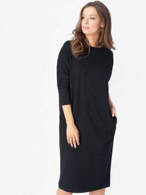 Платье осеннее черное Bornsoon