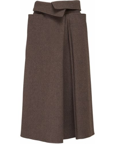 Spódnica midi plisowana z kieszeniami Lemaire