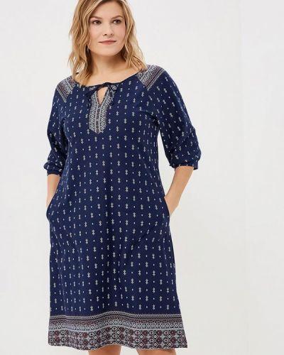 Платье осеннее синее Lori