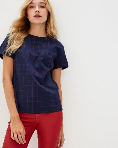 Блузка с коротким рукавом синяя Savage