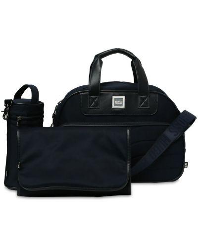 Кожаная сумка с ручками на молнии с карманами Hugo Boss