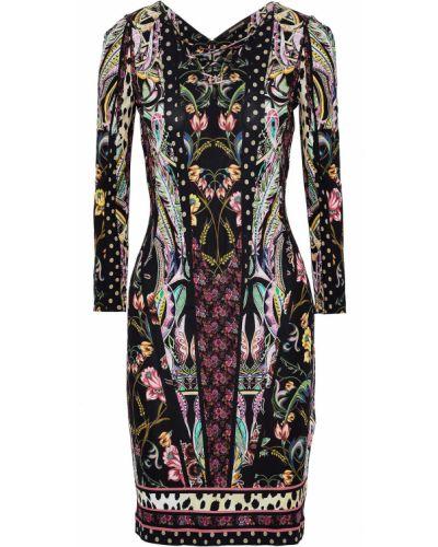 Кружевное платье - черное Roberto Cavalli