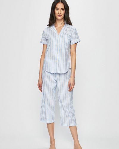 Spodni piżama długo z wiskozy Lauren Ralph Lauren