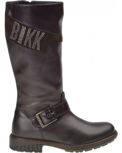 Сапоги коричневый кожаный Bikkembergs