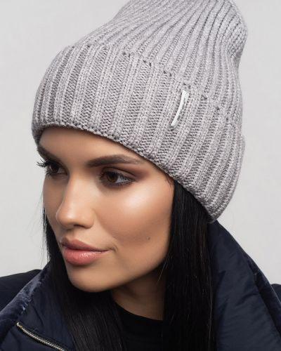 Кашемировая шапка - серая Leks-jolie