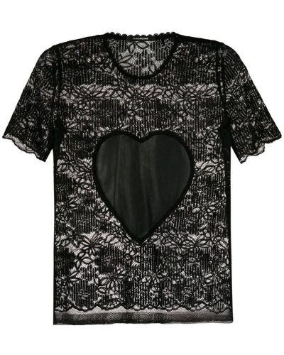 Блузка с коротким рукавом кружевная винтажная À La Garçonne