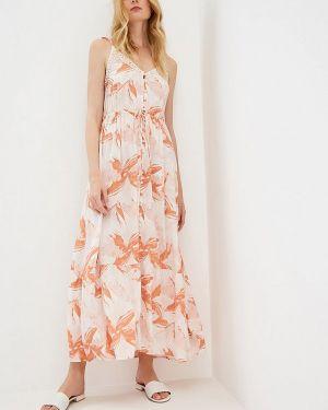 Оранжевое платье Roxy