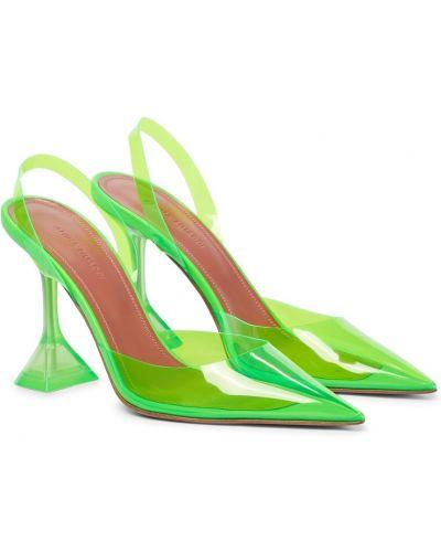 Зеленые туфли-лодочки Amina Muaddi