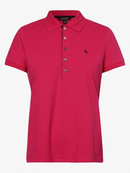 Różowa koszulka elegancka Lauren Ralph Lauren