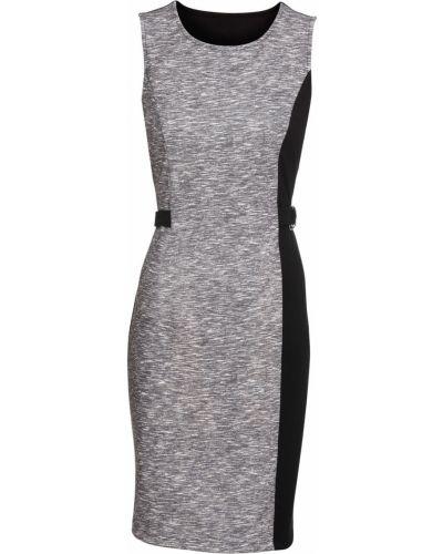 d088e83c652 Женщинам · Одежда · Платья · Деловые  Серые. Деловое платье трикотажное с  узором Bonprix