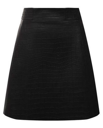 Кожаная юбка - черная Drome