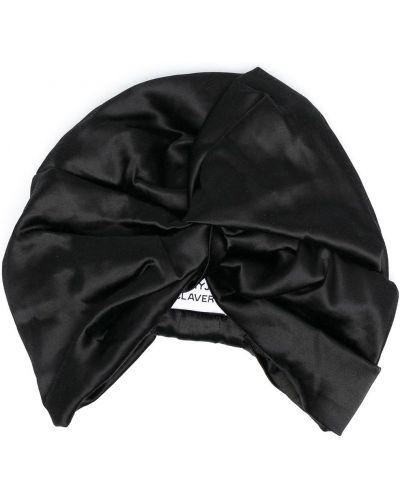 Satyna czarny turban Maryjane Claverol