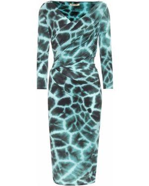 Бирюзовое платье Roberto Cavalli