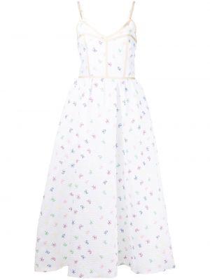 Платье с вышивкой - белое Rosie Assoulin