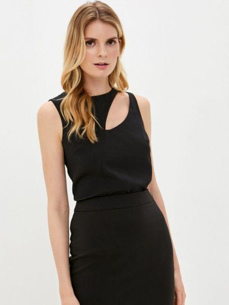 Черная блузка без рукавов снежная королева