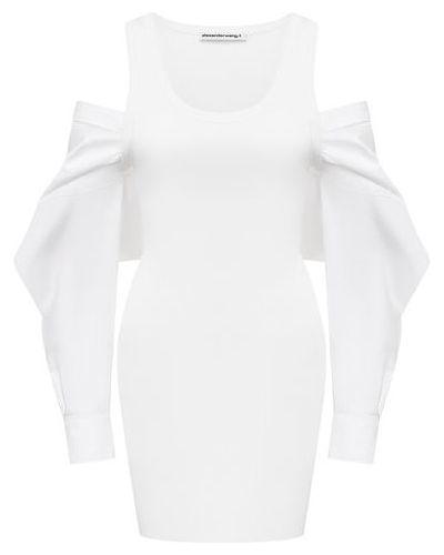 Белое платье из полиэстера Alexanderwang.t