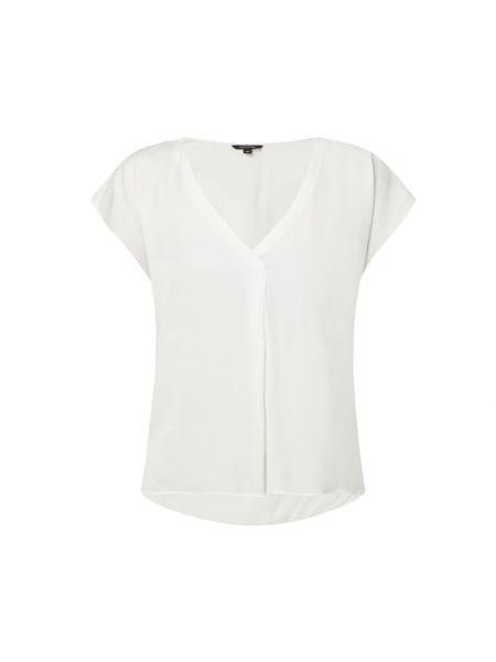 Biała bluzka z wiskozy z dekoltem w serek Comma