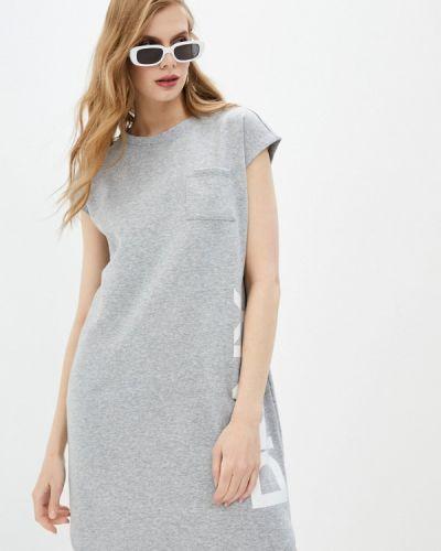 Серое платье Dkny