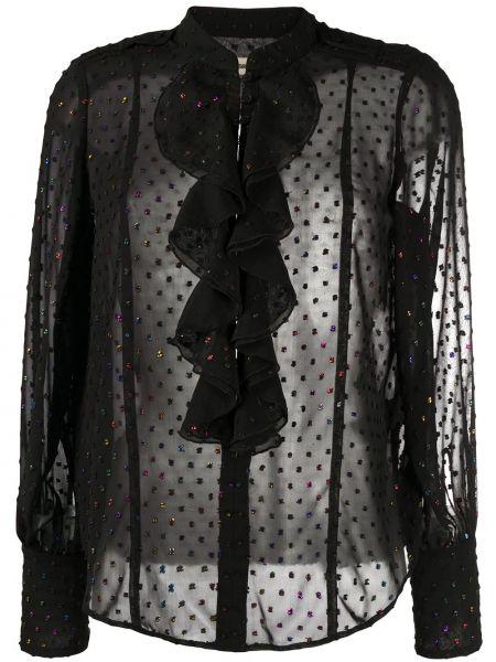 С рукавами черная блузка прозрачная Zadig&voltaire
