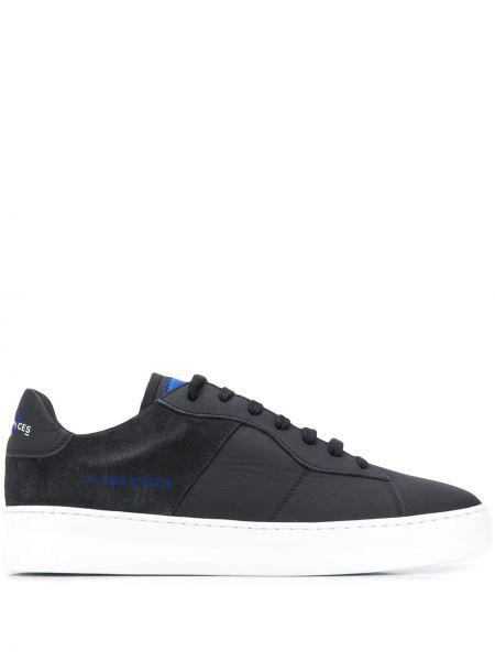 Ażurowy czarny włókienniczy sneakersy z łatami Filling Pieces